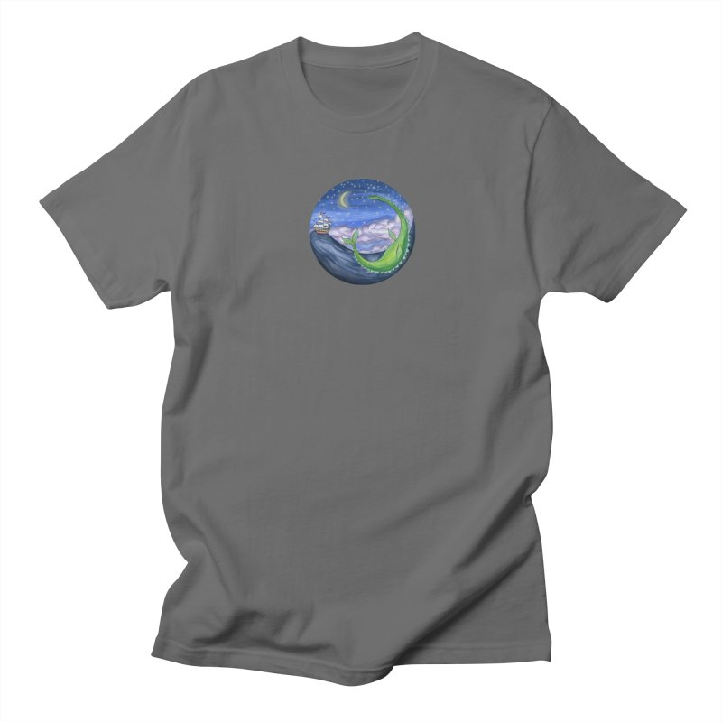 Sea Monster Night Men's T-Shirt by FoxandCrow's Artist Shop