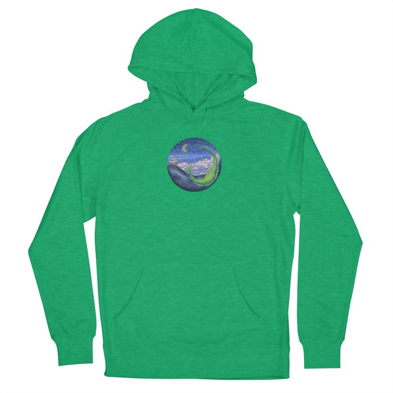 Sea Monster Night Men's French Terry Pullover Hoody by FoxandCrow's Artist Shop