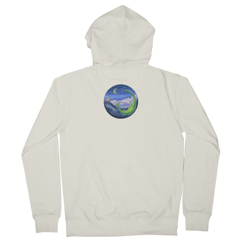 Sea Monster Night Women's French Terry Zip-Up Hoody by FoxandCrow's Artist Shop