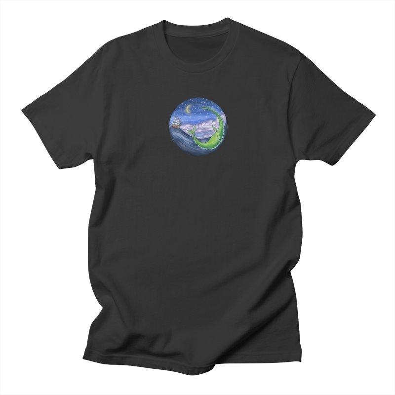 Sea Monster Night Women's Regular Unisex T-Shirt by FoxandCrow's Artist Shop