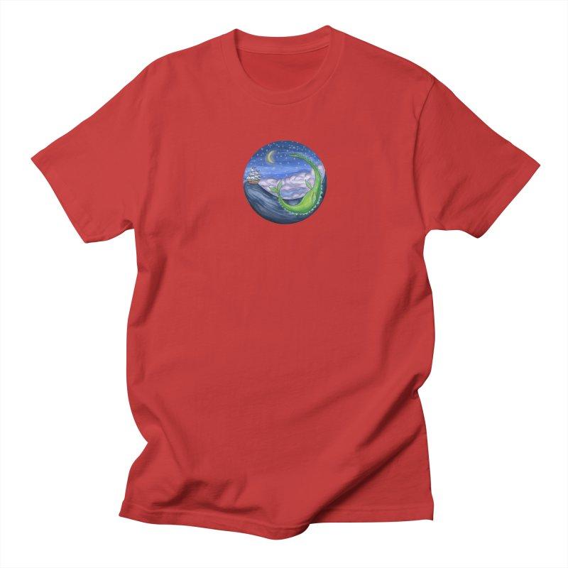 Sea Monster Night Women's Regular Unisex T-Shirt by FoxandCrow's Artist Shop