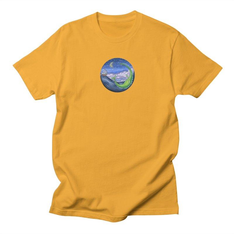 Sea Monster Night Men's Regular T-Shirt by FoxandCrow's Artist Shop