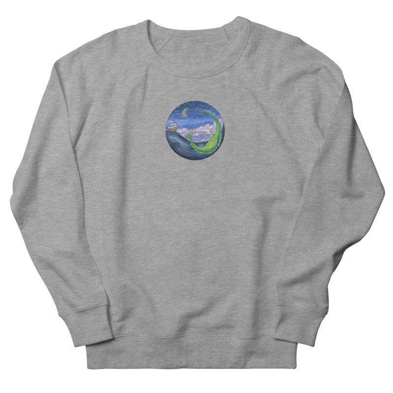 Sea Monster Night Men's French Terry Sweatshirt by FoxandCrow's Artist Shop