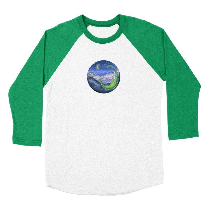 Sea Monster Night Women's Baseball Triblend Longsleeve T-Shirt by FoxandCrow's Artist Shop