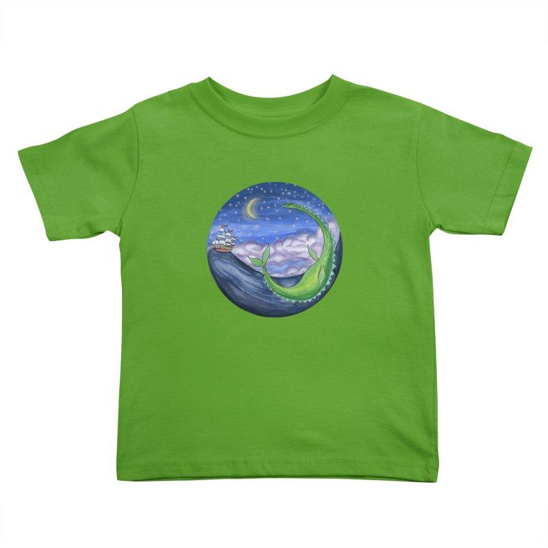 Sea Monster Night Kids Toddler T-Shirt by FoxandCrow's Artist Shop