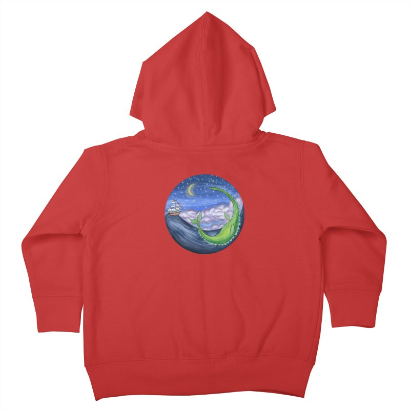 Sea Monster Night Kids Toddler Zip-Up Hoody by FoxandCrow's Artist Shop