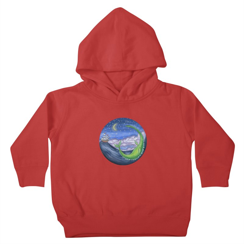 Sea Monster Night Kids Toddler Pullover Hoody by FoxandCrow's Artist Shop