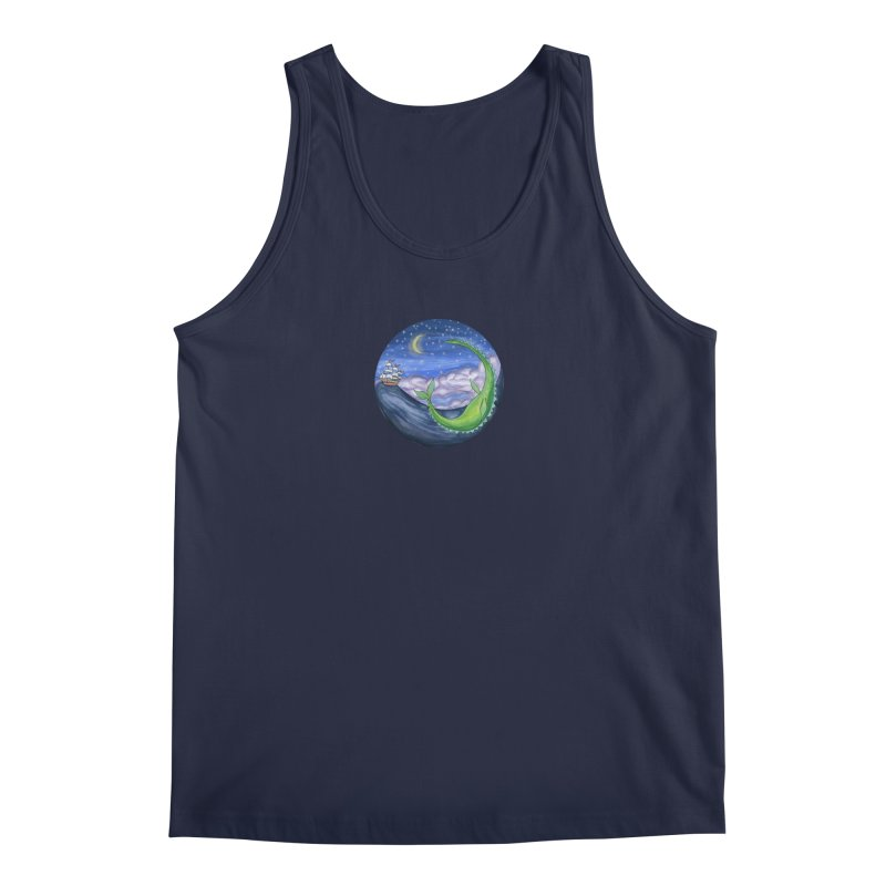 Sea Monster Night Men's Regular Tank by FoxandCrow's Artist Shop