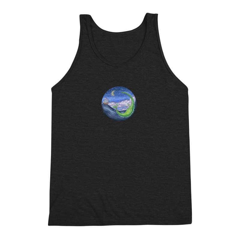 Sea Monster Night Men's Triblend Tank by FoxandCrow's Artist Shop