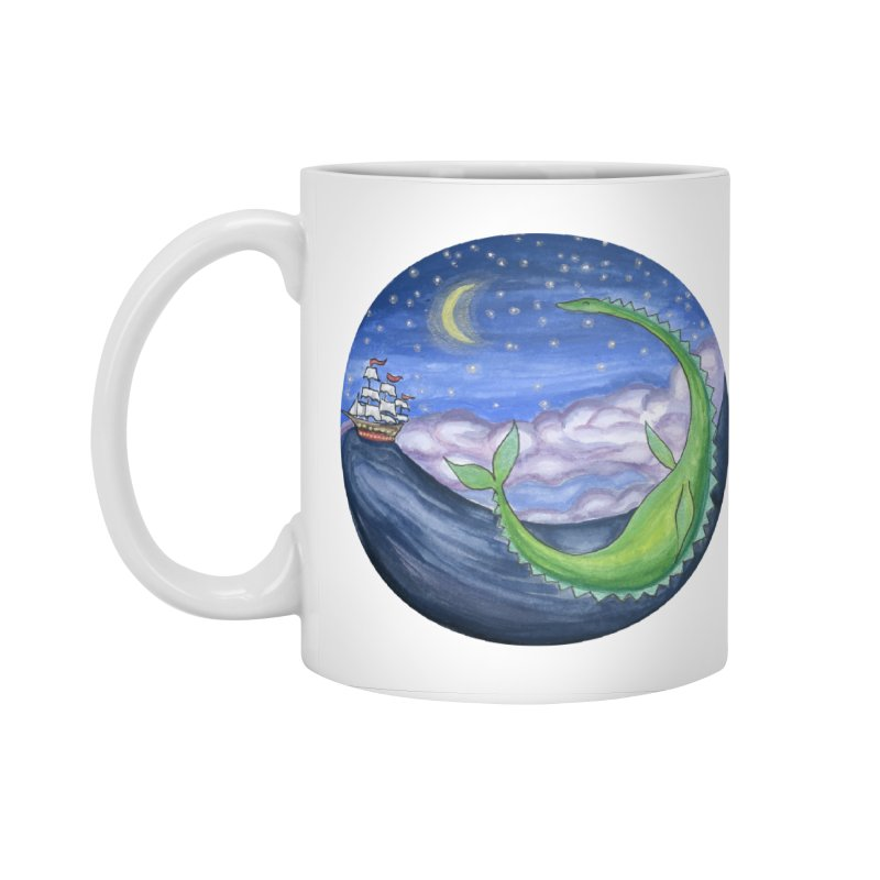 Sea Monster Night Accessories Standard Mug by FoxandCrow's Artist Shop