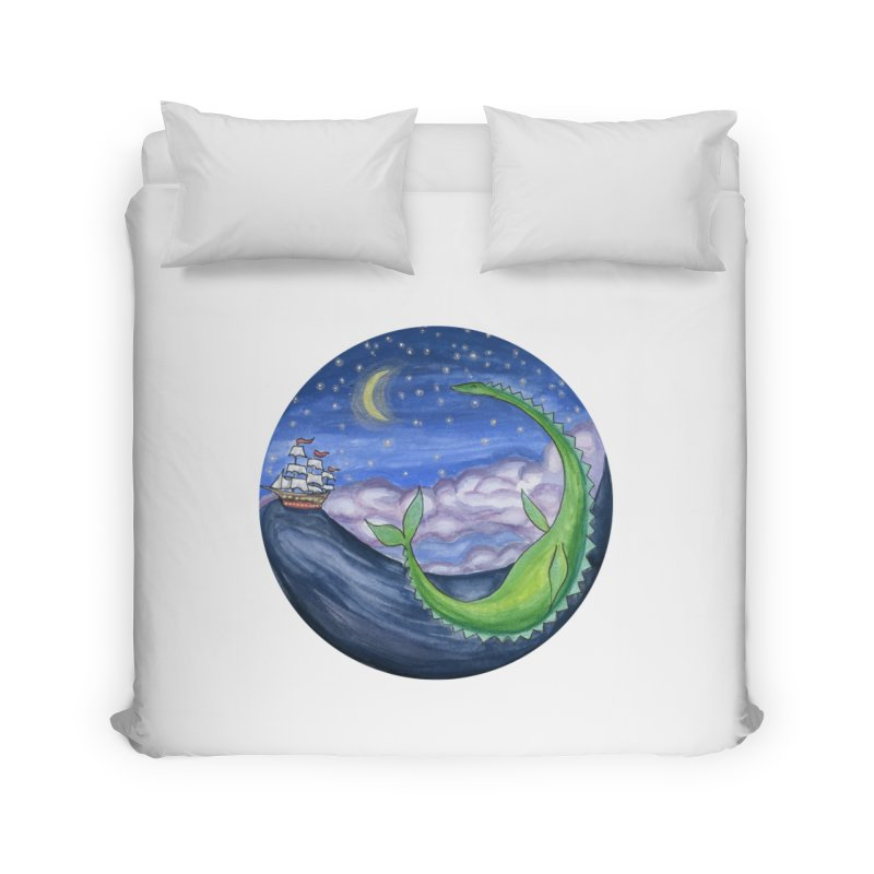 Sea Monster Night Home Duvet by FoxandCrow's Artist Shop