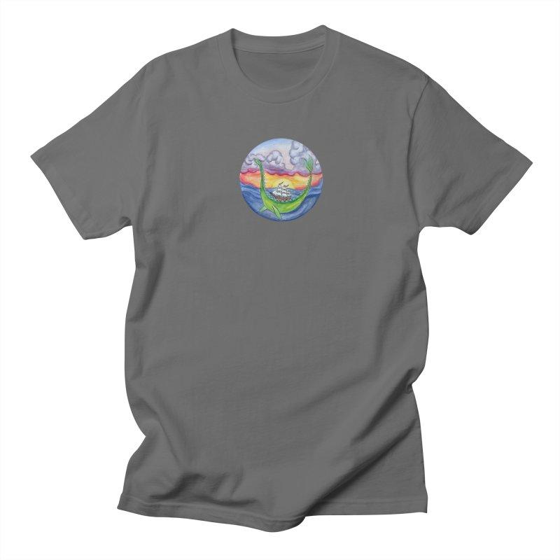 Sea Monster Sunset Men's T-Shirt by FoxandCrow's Artist Shop