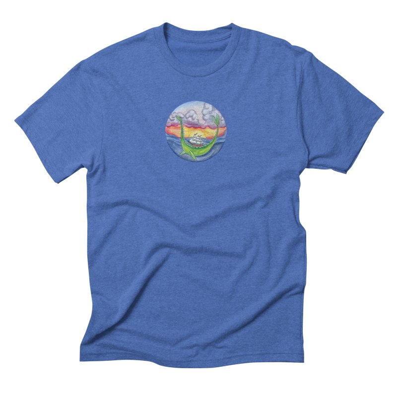 Sea Monster Sunset Men's T-Shirt by FoxandCrow's Artist Shop