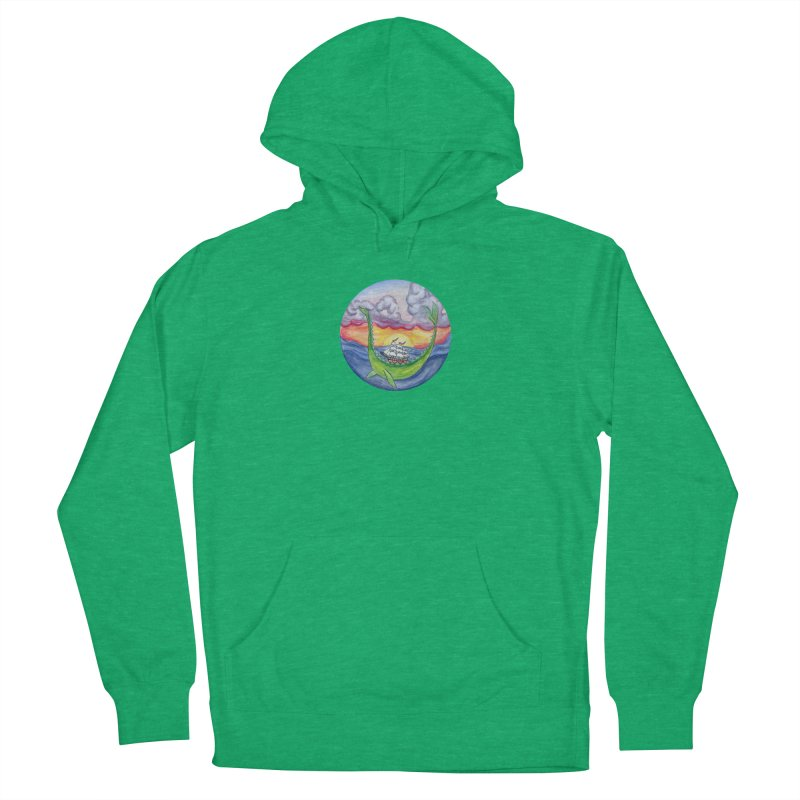 Sea Monster Sunset Women's French Terry Pullover Hoody by FoxandCrow's Artist Shop