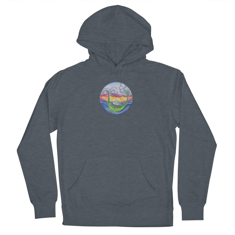 Sea Monster Sunset Men's French Terry Pullover Hoody by FoxandCrow's Artist Shop