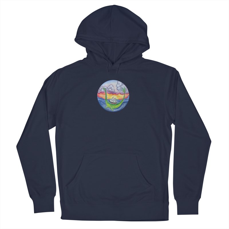 Sea Monster Sunset Men's Pullover Hoody by FoxandCrow's Artist Shop