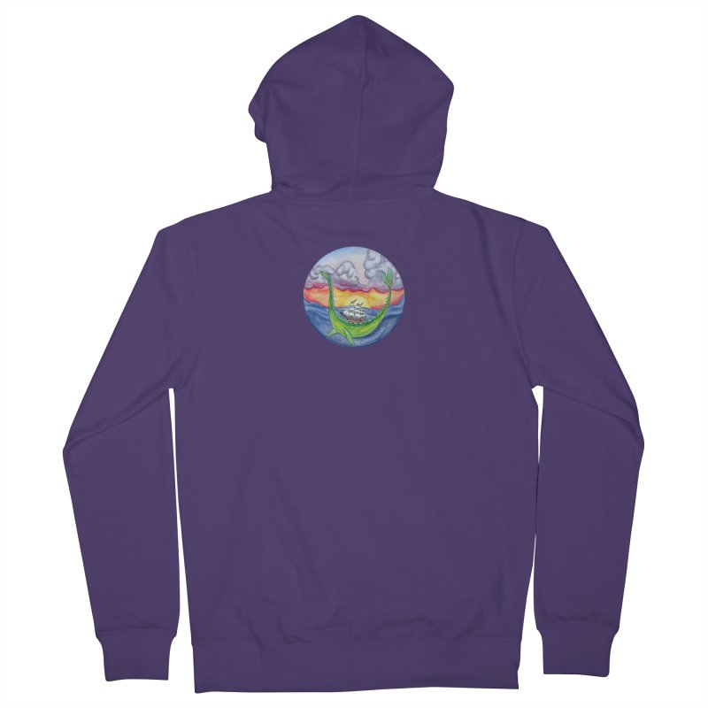 Sea Monster Sunset Women's French Terry Zip-Up Hoody by FoxandCrow's Artist Shop