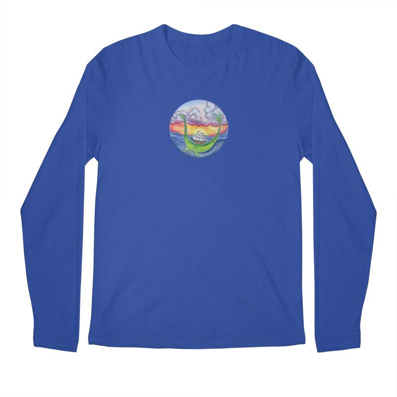 Sea Monster Sunset Men's Regular Longsleeve T-Shirt by FoxandCrow's Artist Shop