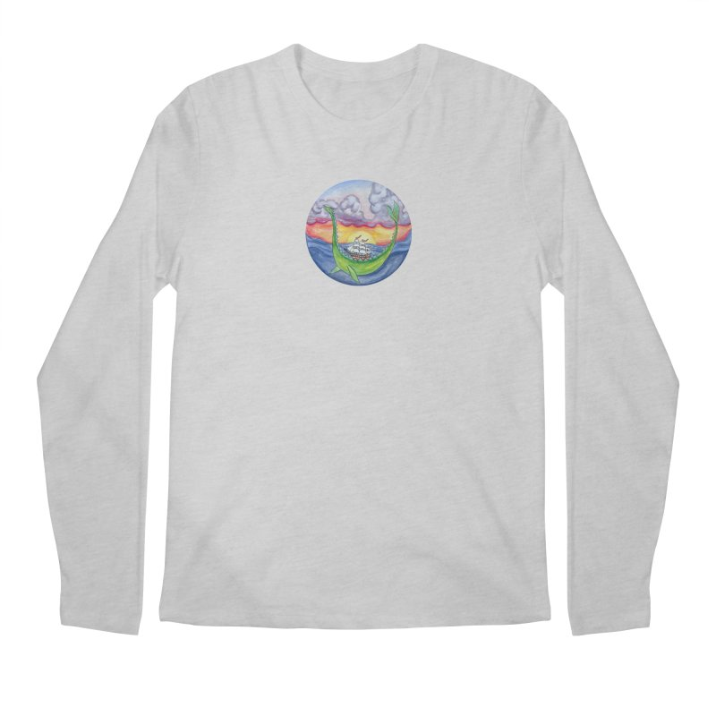 Sea Monster Sunset Men's Regular Longsleeve T-Shirt by FoxandCrow's Artist Shop