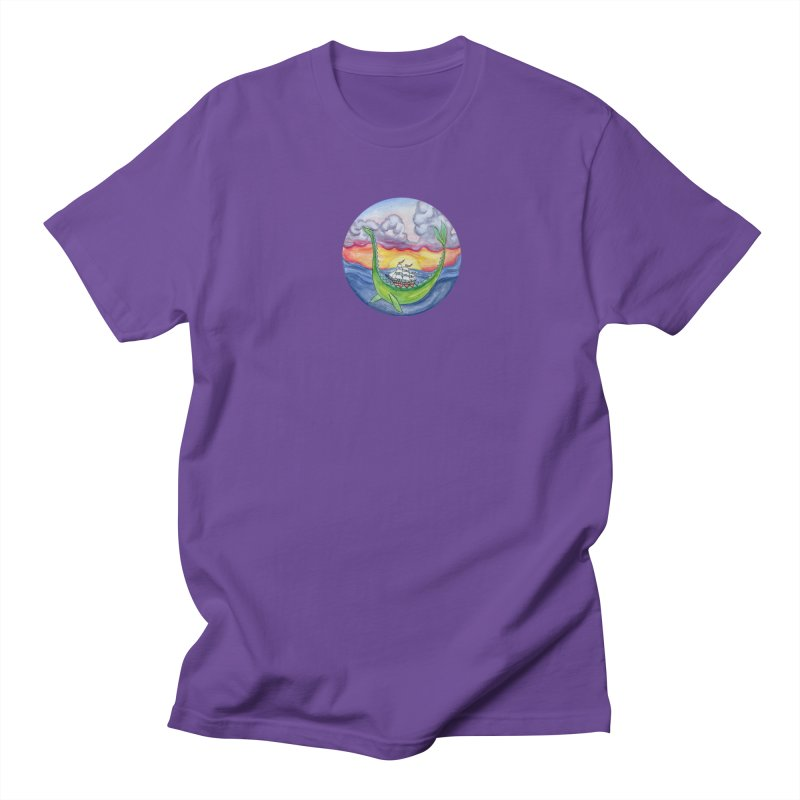 Sea Monster Sunset Women's Regular Unisex T-Shirt by FoxandCrow's Artist Shop