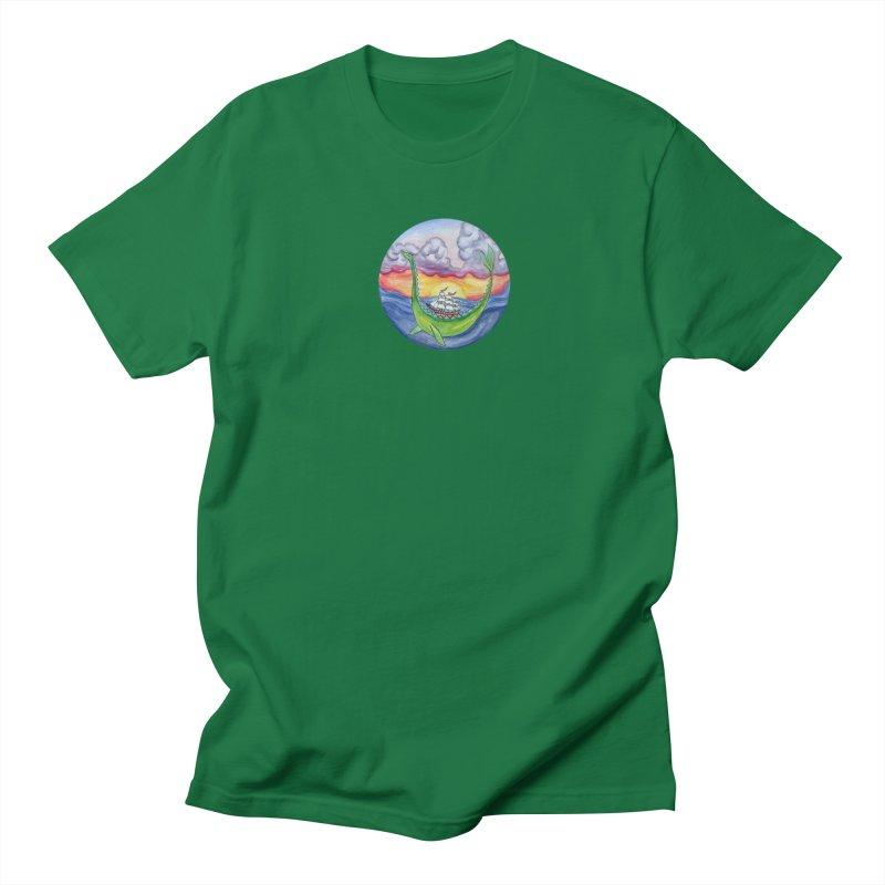 Sea Monster Sunset Men's Regular T-Shirt by FoxandCrow's Artist Shop
