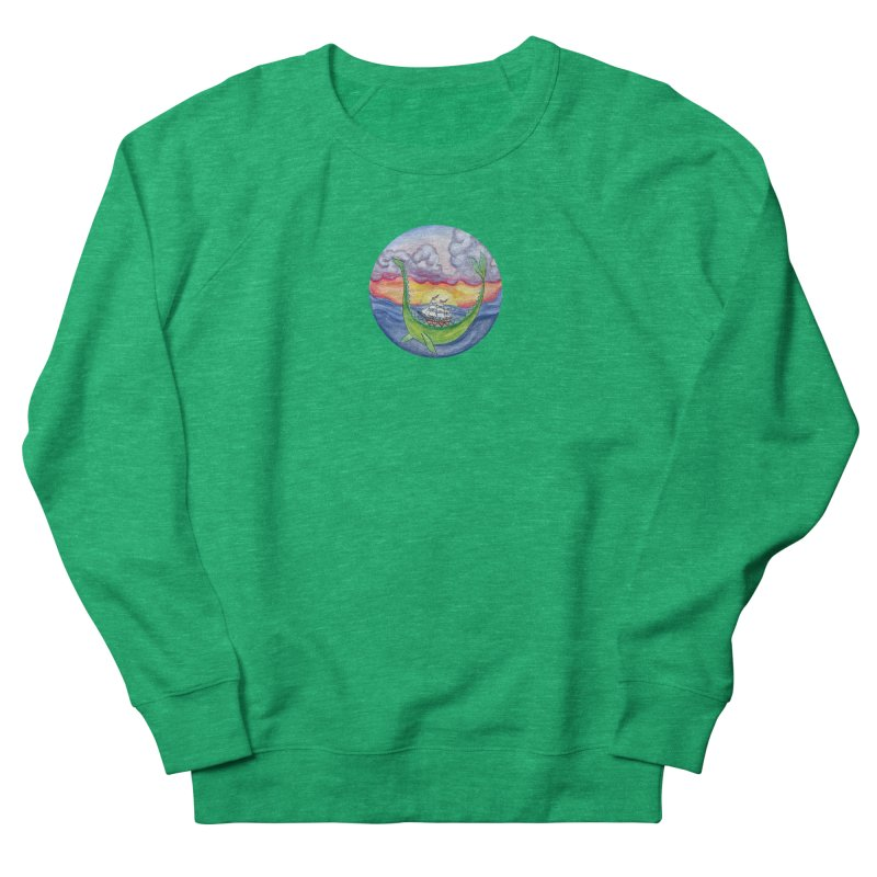 Sea Monster Sunset Women's Sweatshirt by FoxandCrow's Artist Shop