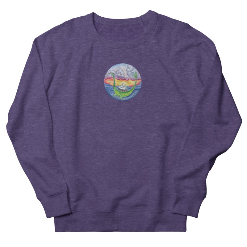 Sea Monster Sunset Women's French Terry Sweatshirt by FoxandCrow's Artist Shop