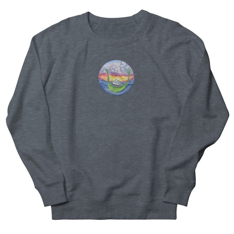 Sea Monster Sunset Men's French Terry Sweatshirt by FoxandCrow's Artist Shop
