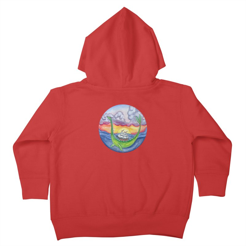 Sea Monster Sunset Kids Toddler Zip-Up Hoody by FoxandCrow's Artist Shop