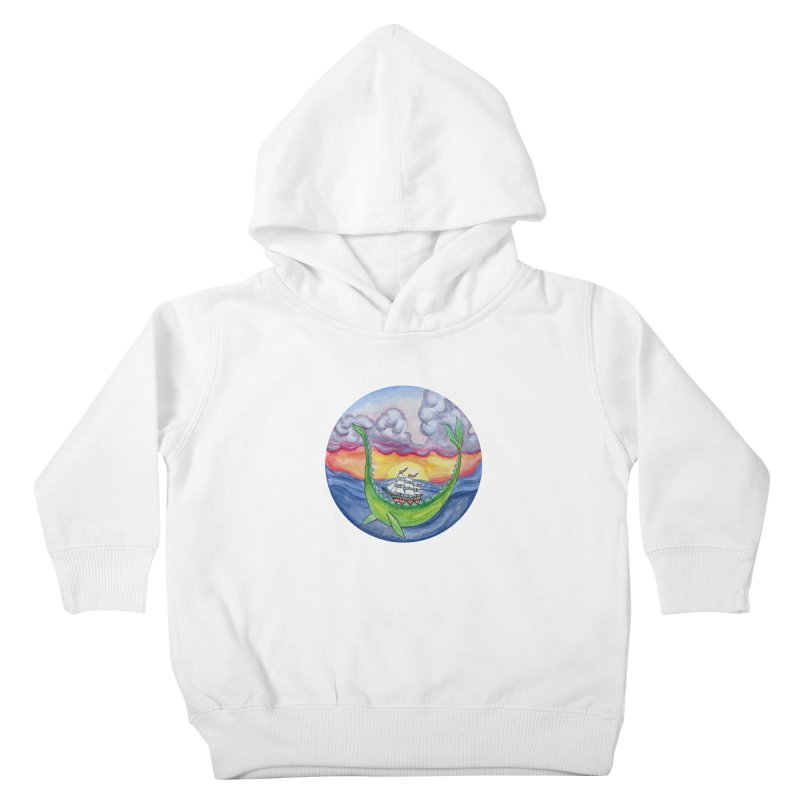 Sea Monster Sunset Kids Toddler Pullover Hoody by FoxandCrow's Artist Shop