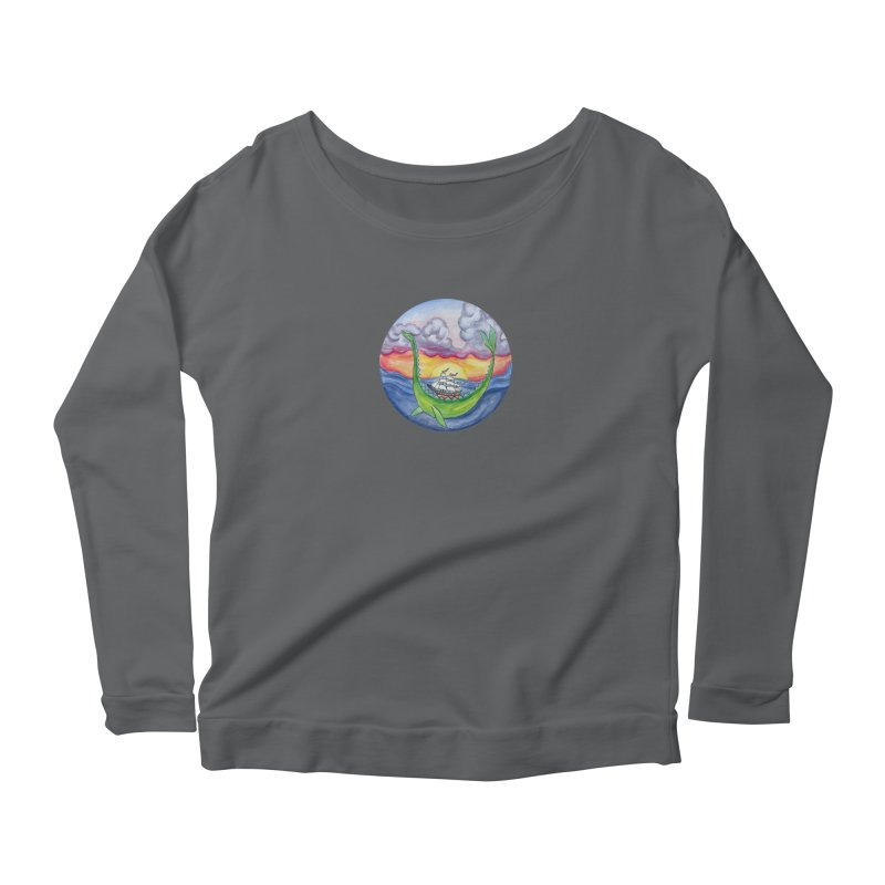Sea Monster Sunset Women's Longsleeve T-Shirt by FoxandCrow's Artist Shop