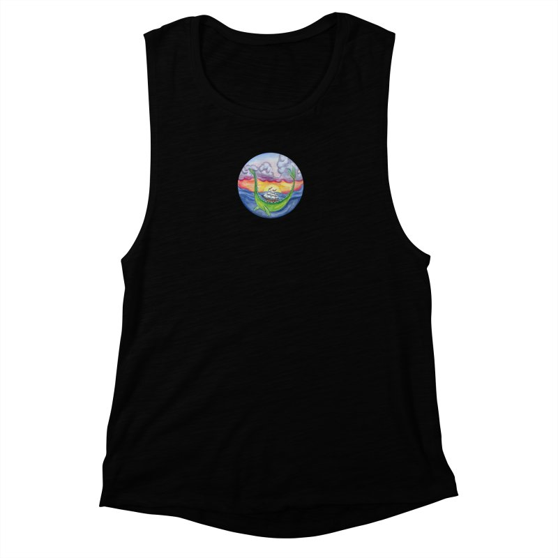Sea Monster Sunset Women's Muscle Tank by FoxandCrow's Artist Shop