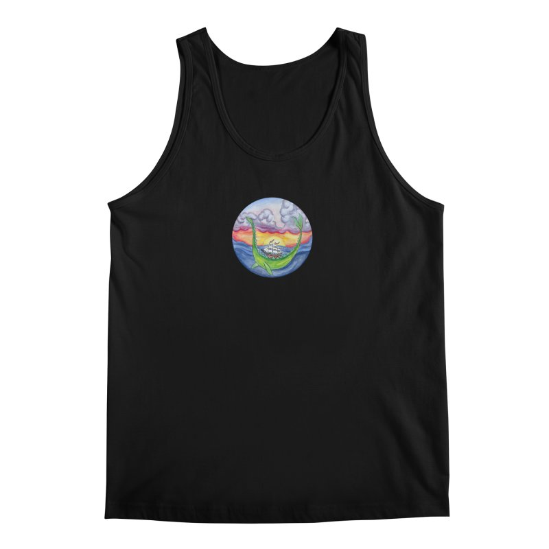 Sea Monster Sunset Men's Regular Tank by FoxandCrow's Artist Shop