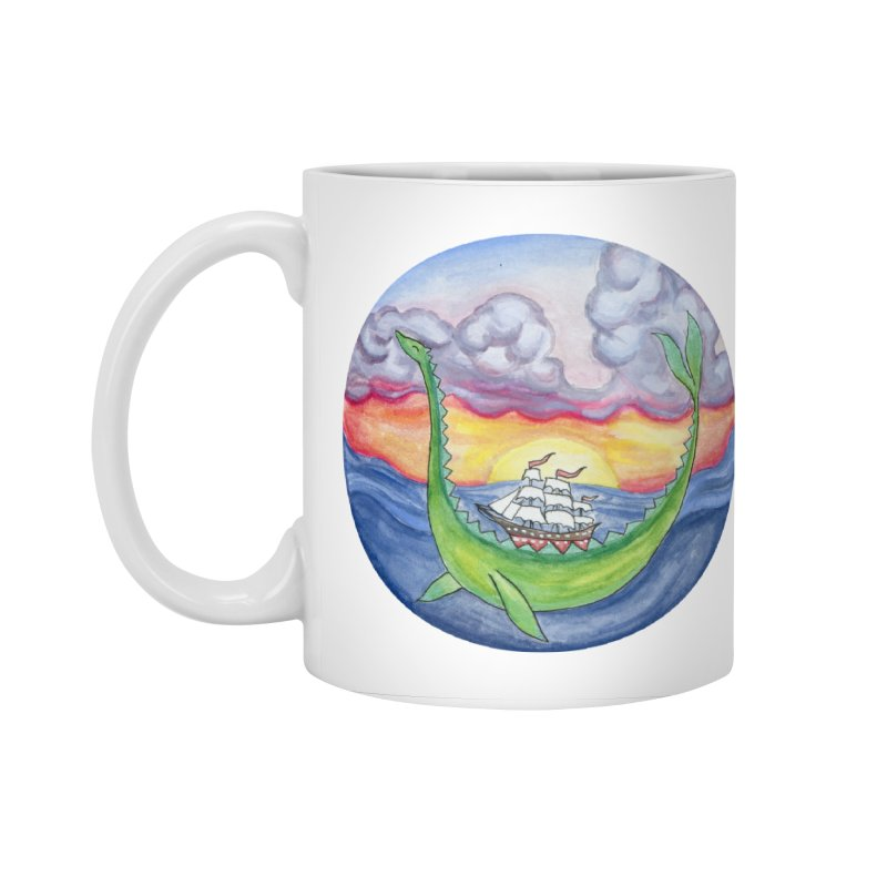 Sea Monster Sunset Accessories Standard Mug by FoxandCrow's Artist Shop