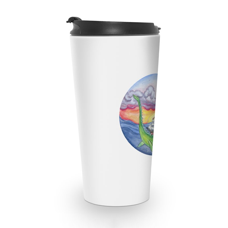 Sea Monster Sunset Accessories Travel Mug by FoxandCrow's Artist Shop