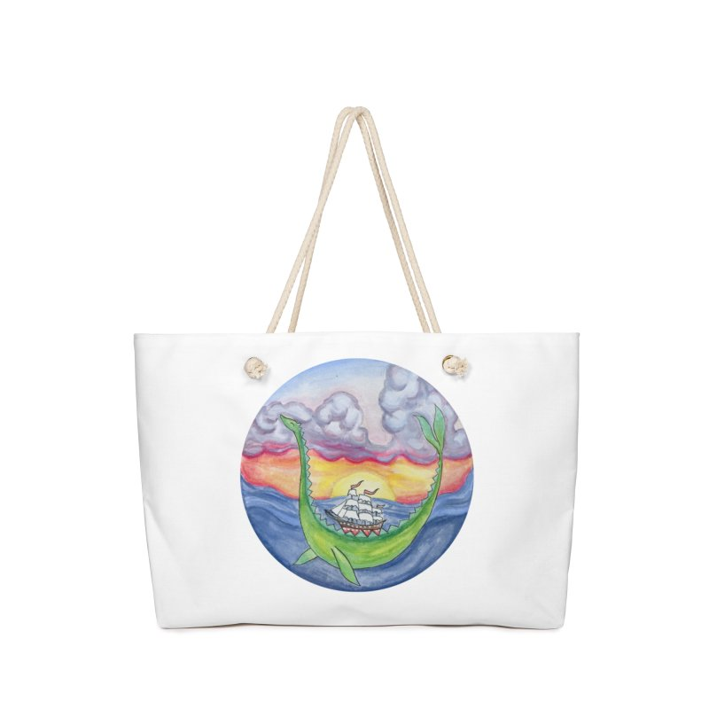 Sea Monster Sunset Accessories Bag by FoxandCrow's Artist Shop