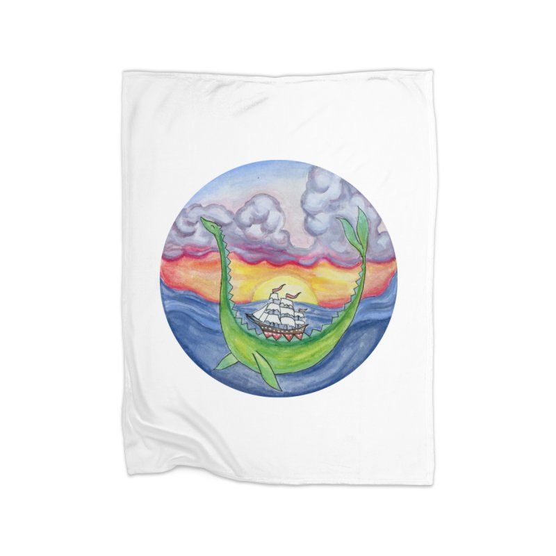Sea Monster Sunset Home Blanket by FoxandCrow's Artist Shop