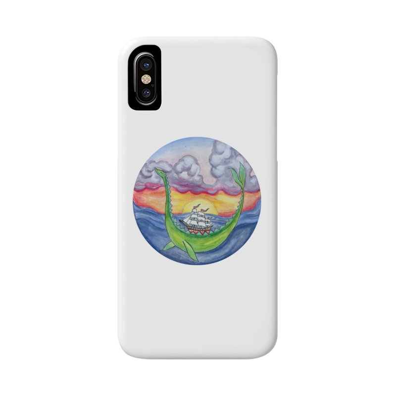 Sea Monster Sunset Accessories Phone Case by FoxandCrow's Artist Shop