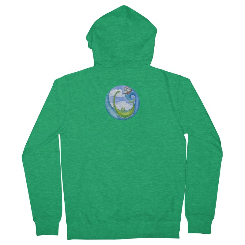 Sea Monster Play Time Women's Zip-Up Hoody by FoxandCrow's Artist Shop