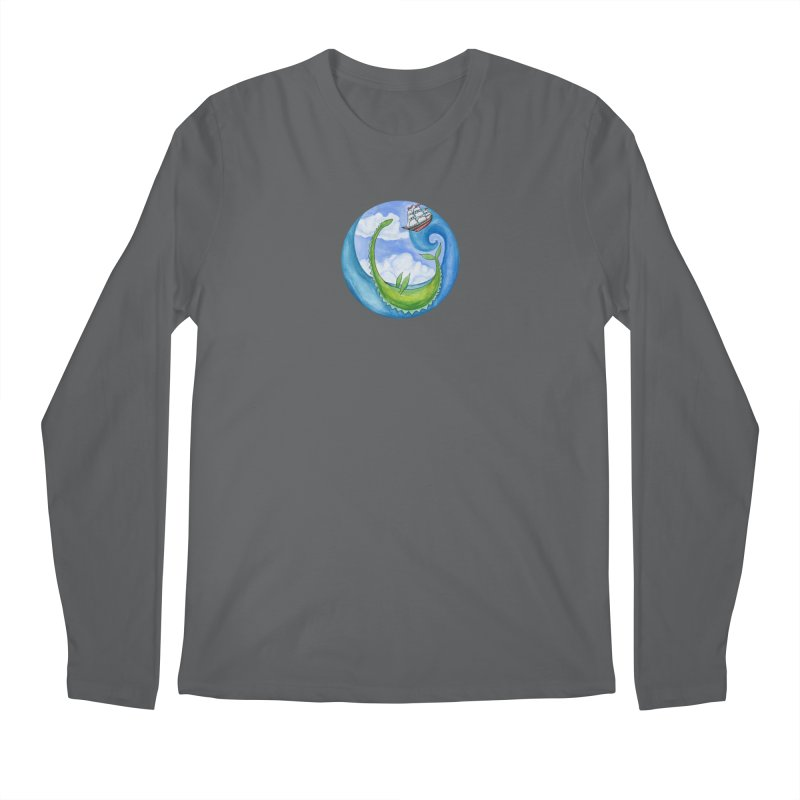 Sea Monster Play Time Men's Longsleeve T-Shirt by FoxandCrow's Artist Shop