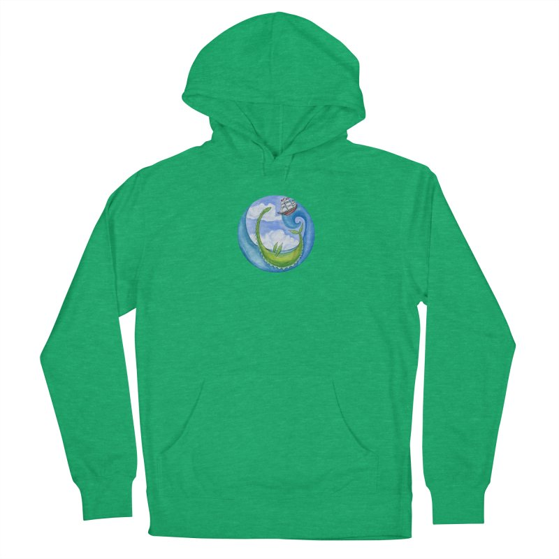 Sea Monster Play Time Women's French Terry Pullover Hoody by FoxandCrow's Artist Shop