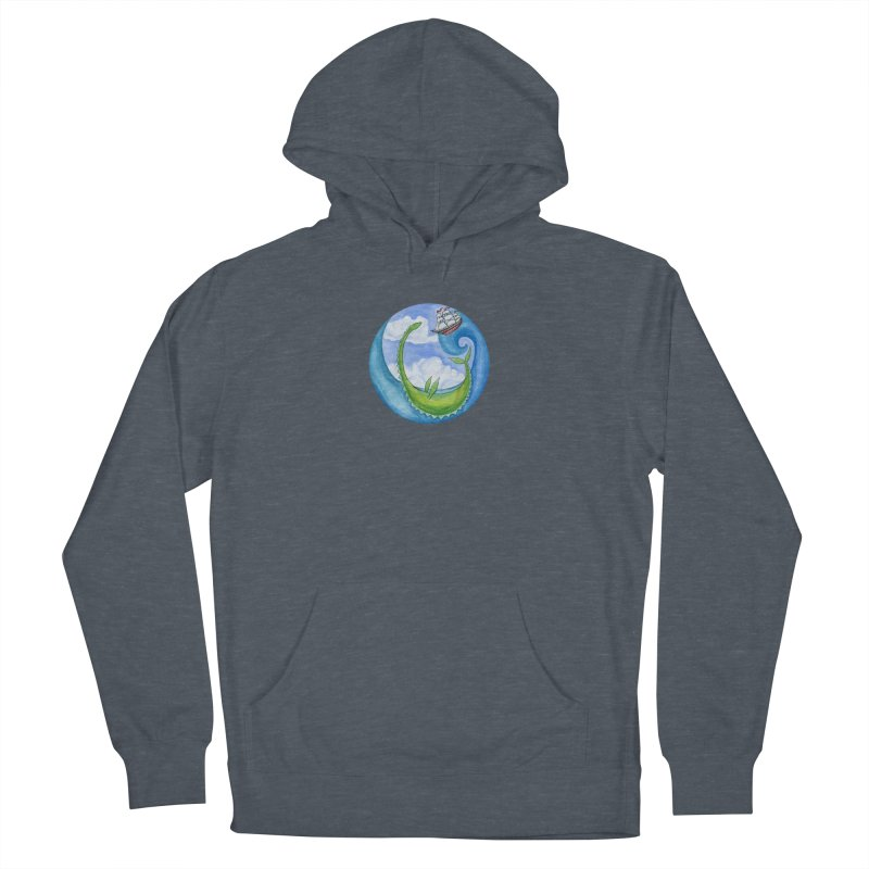 Sea Monster Play Time Men's French Terry Pullover Hoody by FoxandCrow's Artist Shop