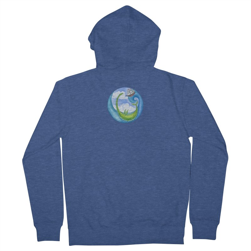 Sea Monster Play Time Women's French Terry Zip-Up Hoody by FoxandCrow's Artist Shop