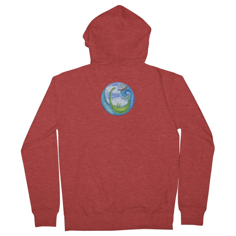 Sea Monster Play Time Men's French Terry Zip-Up Hoody by FoxandCrow's Artist Shop