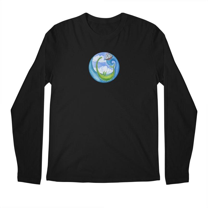 Sea Monster Play Time Men's Regular Longsleeve T-Shirt by FoxandCrow's Artist Shop