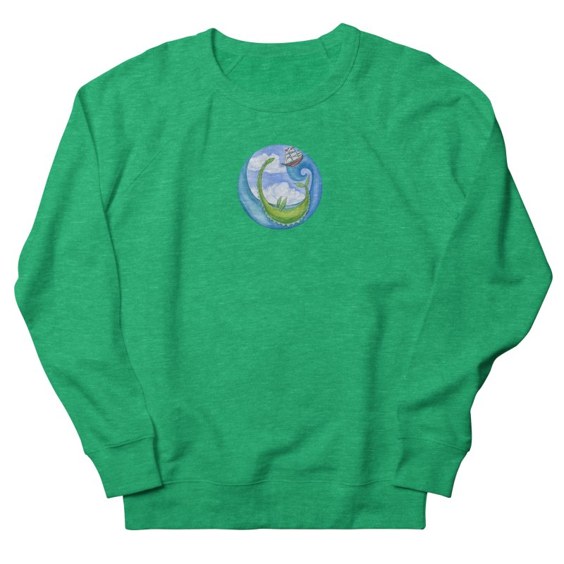Sea Monster Play Time Men's French Terry Sweatshirt by FoxandCrow's Artist Shop