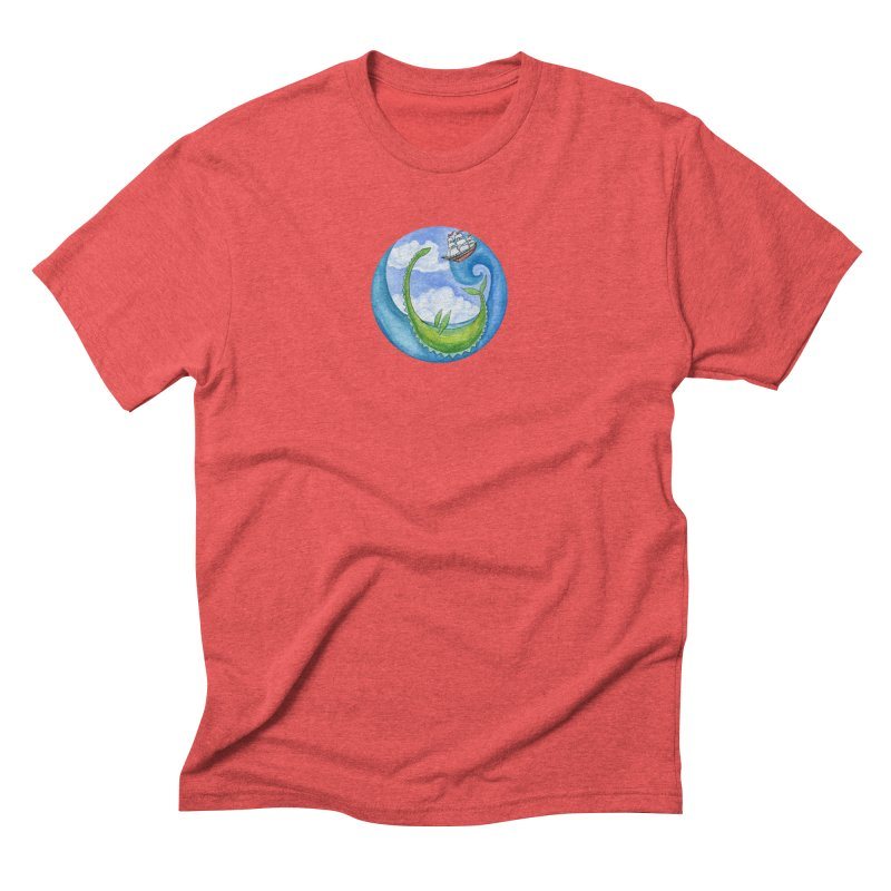 Sea Monster Play Time Men's Triblend T-Shirt by FoxandCrow's Artist Shop