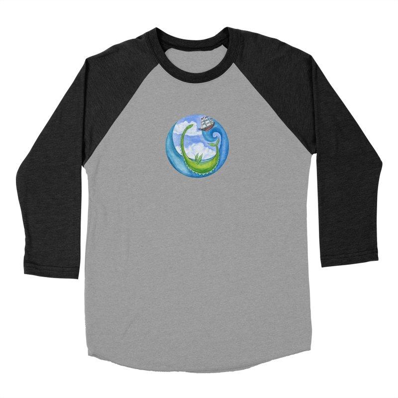 Sea Monster Play Time Men's Baseball Triblend Longsleeve T-Shirt by FoxandCrow's Artist Shop