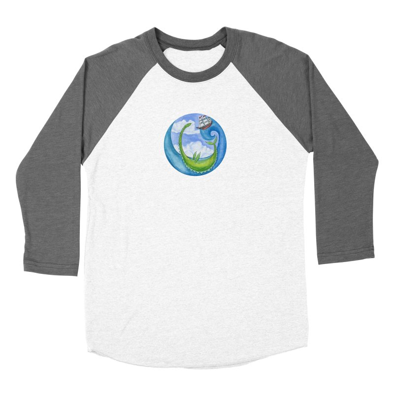 Sea Monster Play Time Men's Baseball Triblend Longsleeve T-Shirt by FoxandCrow's Artist Shop