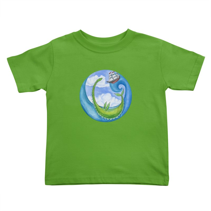 Sea Monster Play Time Kids Toddler T-Shirt by FoxandCrow's Artist Shop